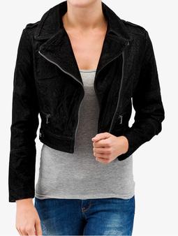 Urban Classics Short Biker Jacket Black