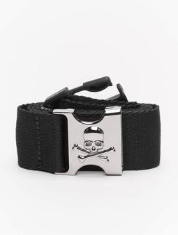 Urban Classics Skull Buckle Belt Black