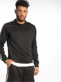 Urban Classics Sleeve Taped Sweatshirt Black/Grey