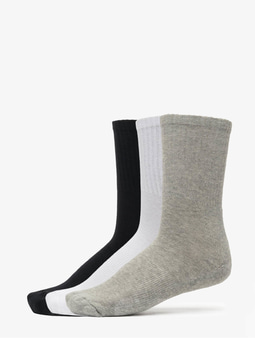 Urban Classics 3-Pack Sport Socks Black