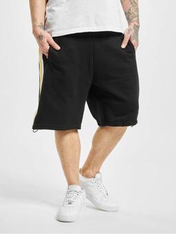 Urban Classics Stripe Sweat Shorts Black/White/Chrome Yellow
