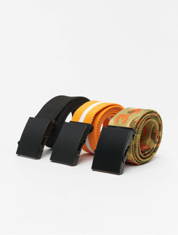 Urban Classics Trio Belt Black/Black/Camo/Black/White/Black