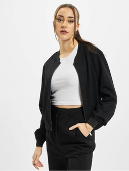 Urban Classics Viscose Twill Blouson Transition Jacket Black/Black