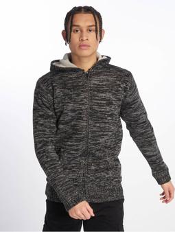 Urban Classics Winter Knit Zip Hoody Black/Grey