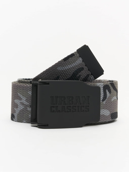 Urban Classics Woven Rubbered Touch Belt Grey Camo