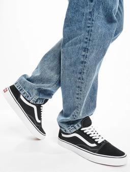 Vans Old Skool Skate Shoes Black/White (40.5 black)