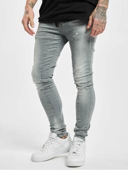 Vsct Clubwear Keanu Zip Antifit Jeans Grey Sky Splattered