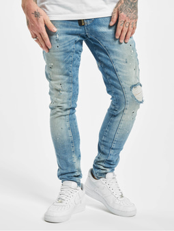 Vsct Clubwear Keanu Zip Antifit Jeans Sunfaded Splattered