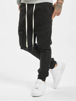 VSCT Clubwear Noah Cargo Cuffed Antifit Jeans Black