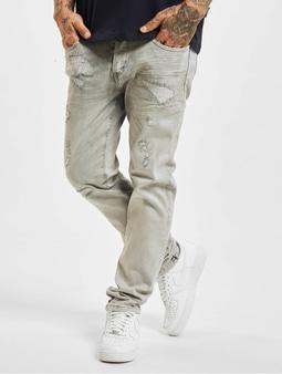 Yakuza 420 Straight Jeans Grey Repaired