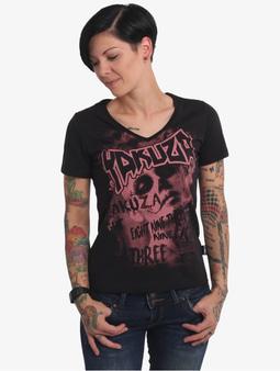 Yakuza Asesinatol V-Neck T-Shirt Black