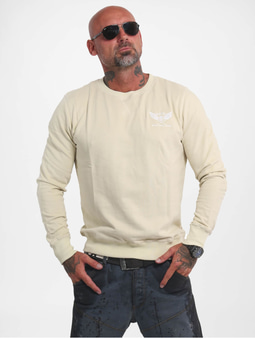 Yakuza Basic Line Emb Crew Sweatshirt Black