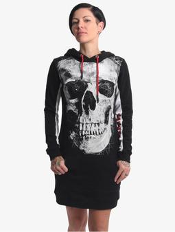 Yakuza Skull Two Face Dress Black