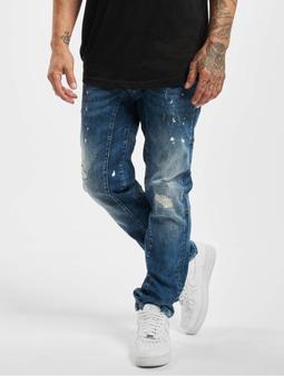 Yakuza Yayo Straight Fit Jeans Mid Blue Destroyed