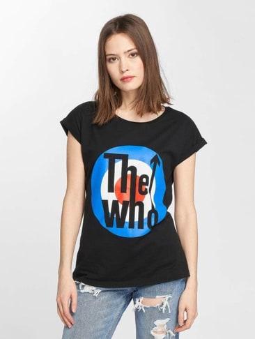 MERCHCODE Damen Gorillaz Logo T-Shirt