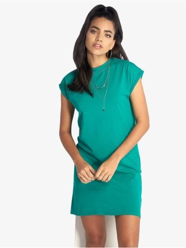 Urban Classics Damen Kleid Ladies Stretch Jersey Turtleneck Dress