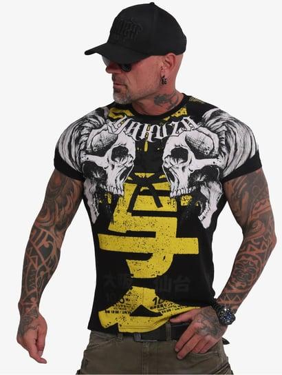 Neues Yakuza Herren Brass Knuckles Crew T-Shirt Schwarz