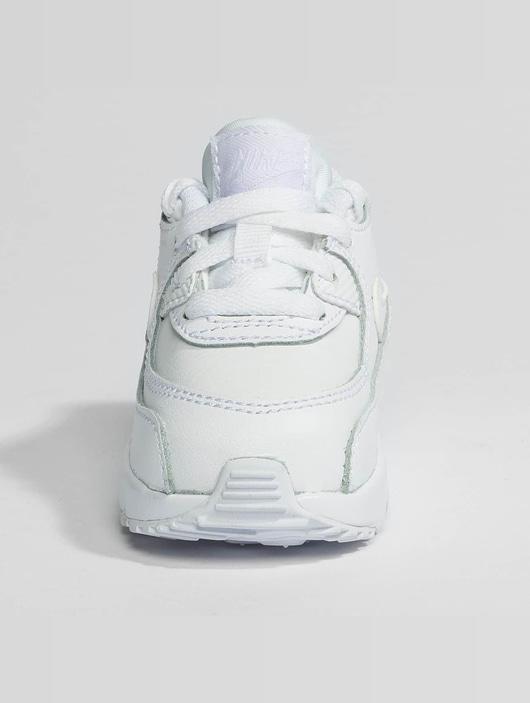 Nike AIR MAX 90 LEATHER TODDLER Bleu Blanc Chaussures
