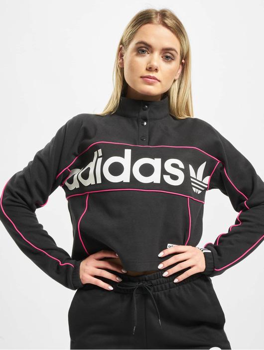 Adidas Originals Cropped Sweater Black image number 2