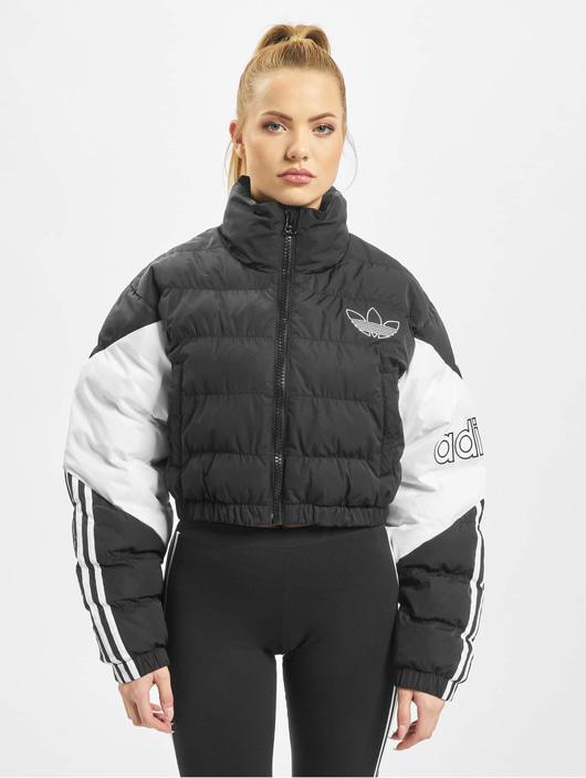adidas Jacke – Cropped Puffer schwarzweiß