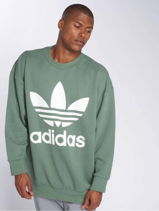 Adidas Originals Tref Over Crew Sweatshirt Trace Green