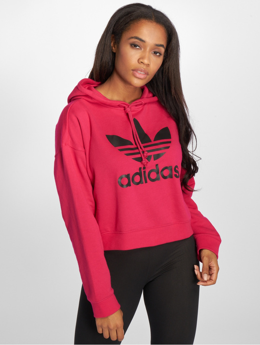 adidas originals LF Crop Hoody Pink