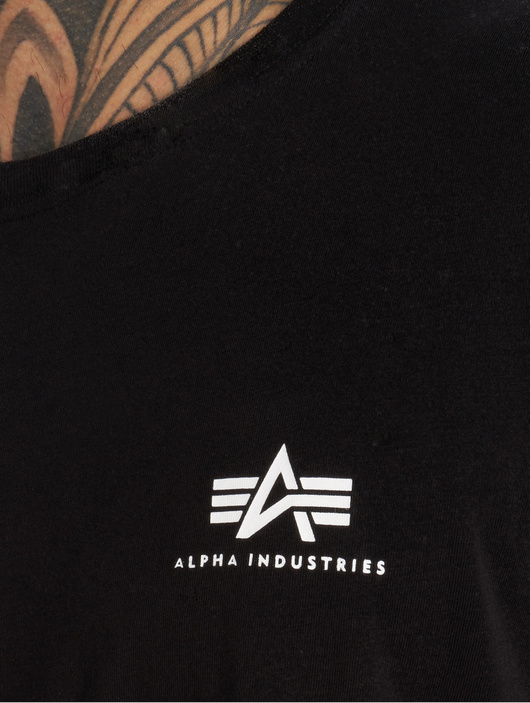 Alpha Industries Basic Small Logo T-Shirt Grey Heather image number 4