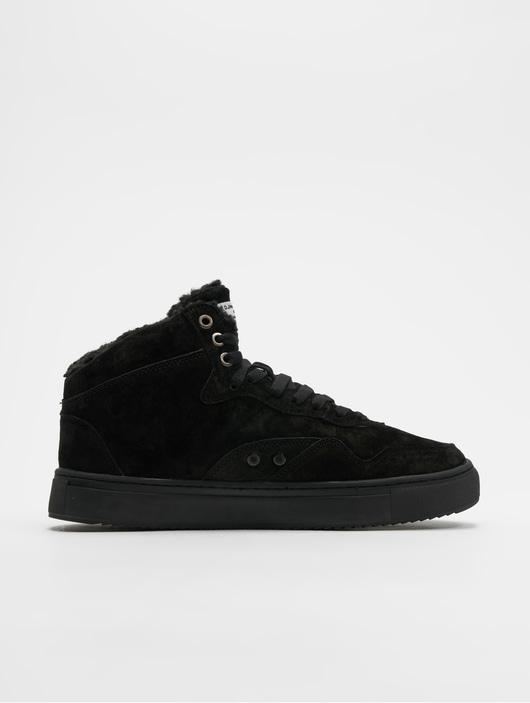 Djinns Highwaik Fur Suede Sneakers BlackBlack