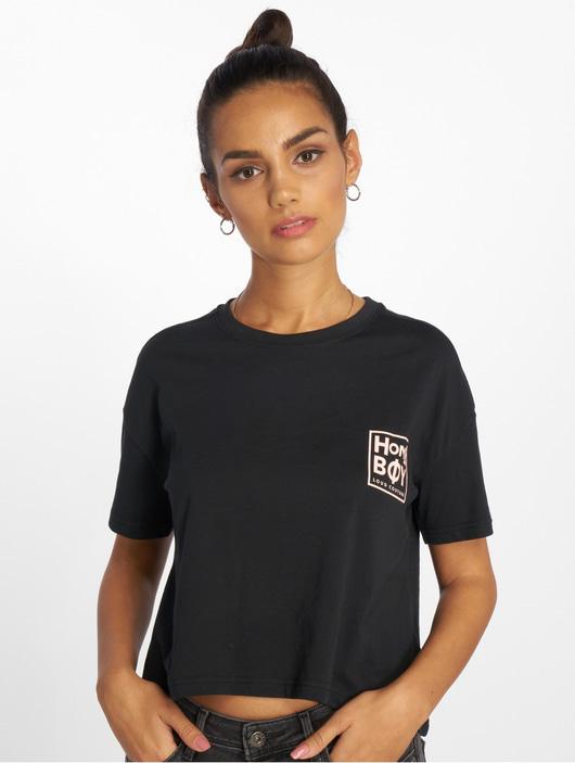 Homeboy Cate New School Logo T Shirt Black