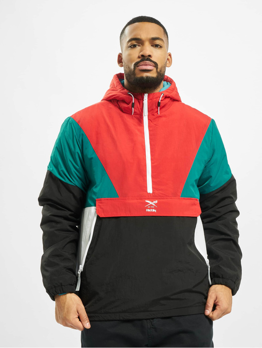 Iriedaily Get Down Pull Up Jacket PetrolRed