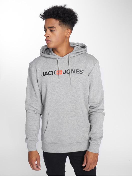 Jack & Jones jjeCorp Logo Sweat Hoody Light Grey Melange image number 3