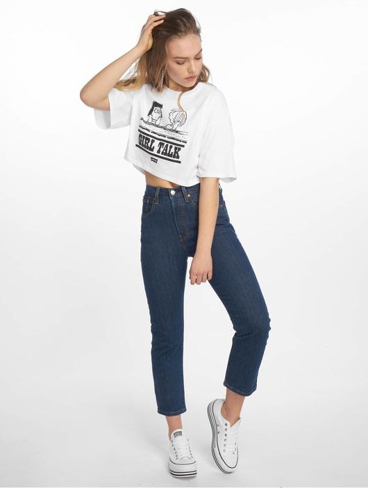 Levi's® 501 Crop Shot High Waist Jeans Dark Indigo Worn In