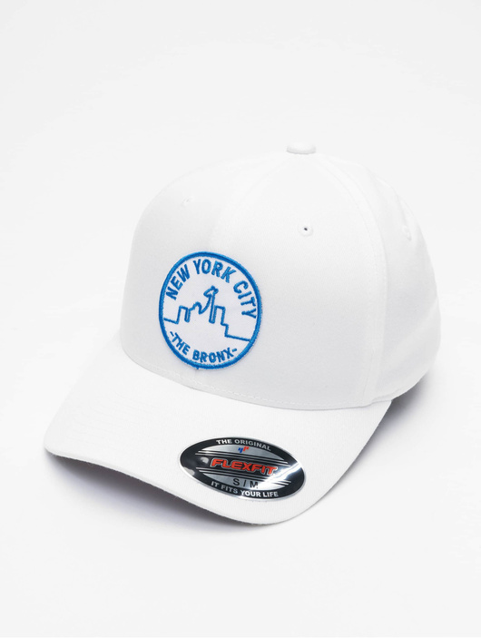 Merchcode Nyc Bronx Emblem Flexfit Flexfitted Cap White image number 0