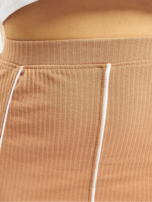 Missguided Contrast Seam Midi Coord Skirt Camel image number 3