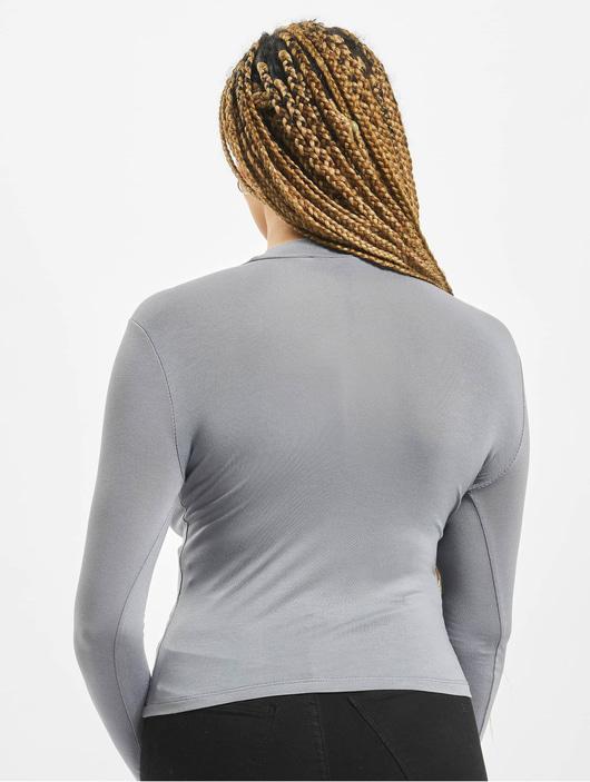 Missguided Funnel Neck T-Shirt Blue image number 1