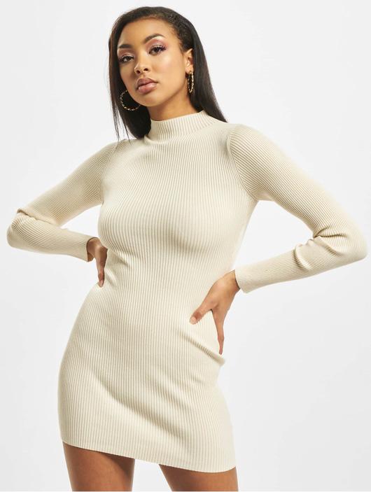 Missguided Damen Kleid High Neck Knitted in beige 717234