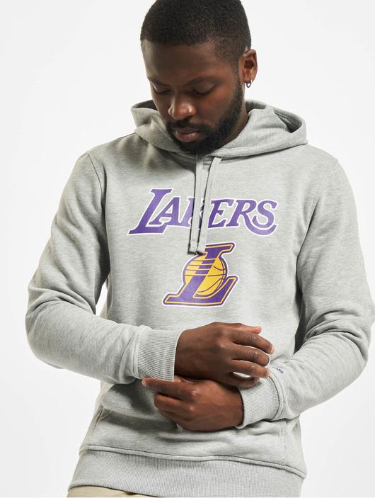 New Era Team Logo LA Lakers Hoody Light Grey Heather image number 0