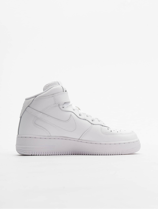 baskets nike air force 1 mid gs blanc