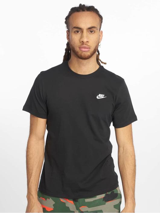 Nike Club T-Shirt Dk Grey Heather/Black image number 2