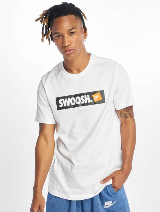 Nike Swoosh Bmpr Stkr T-Shirt White/White image number 2