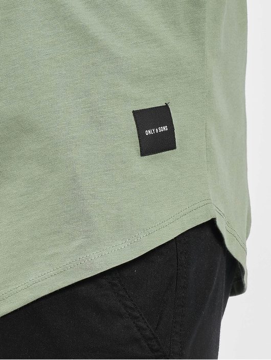 Only & Sons onsMatt Life Longy Noos T-Shirt Hedge Green image number 3