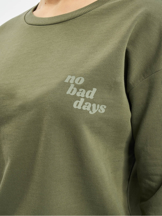 Only onlDiana Sweatshirt Kalamata/No Bad Days image number 3