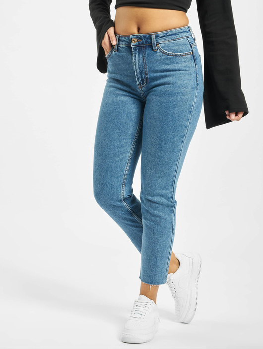 Only onlEmily High Waist ST Raw Noos Jeans Dark Blue Denim image number 0