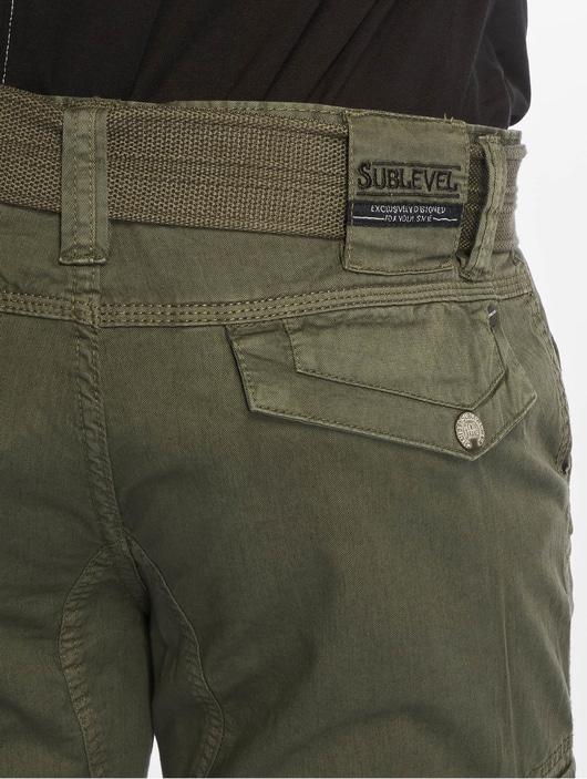 Sublevel Haka Cargo Shorts Military Green image number 4