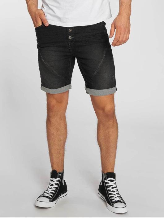 Sublevel Jogg Jeans Bermuda Shorts Black Denim image number 0