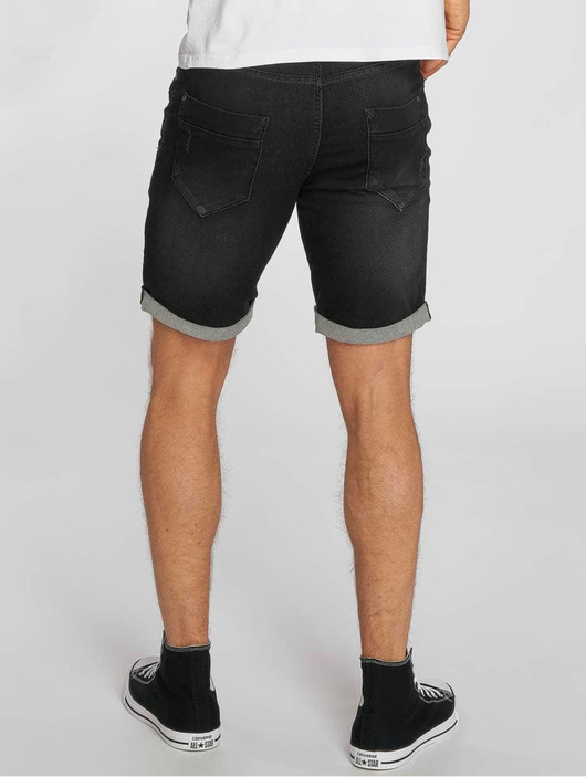 Sublevel Jogg Jeans Bermuda Shorts Black Denim image number 1