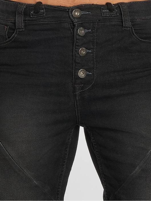 Sublevel Jogg Jeans Bermuda Shorts Black Denim image number 4