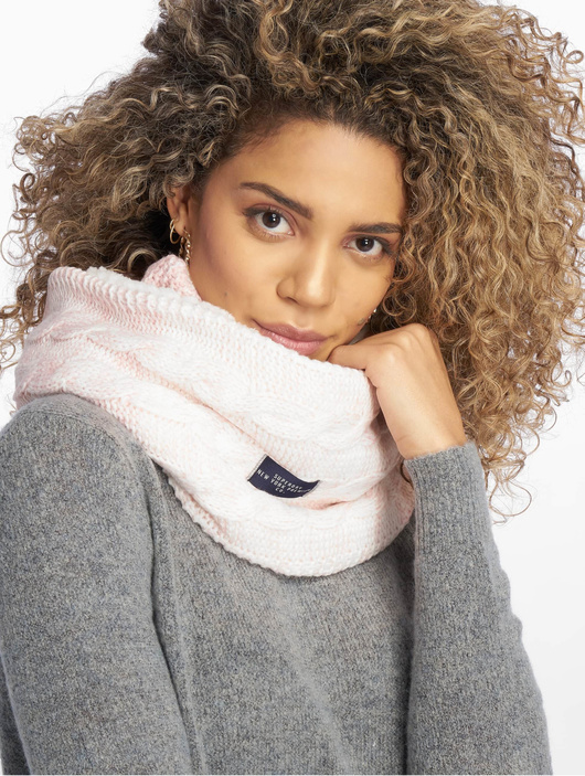 new product 9c9a7 7c358 Superdry Clarrie Cable Snood Scarf Sandy Pink Ombre