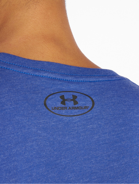 Under Armour Sportstyle Left Chest T Shirt Royal Medium Heather Black