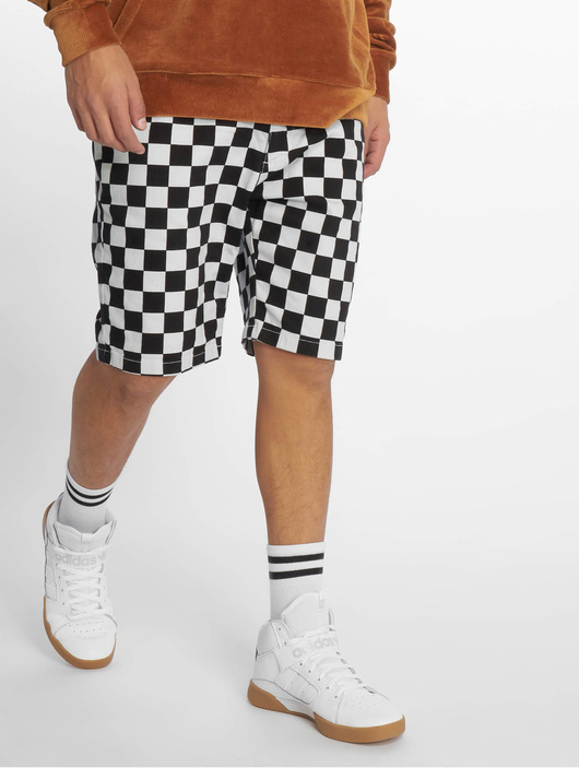 Urban Classics Check Twill Shorts Chess image number 2